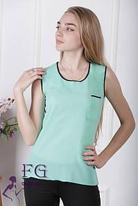 Майка-блузка «Оливия» - распродажа 42, мятный #A/S