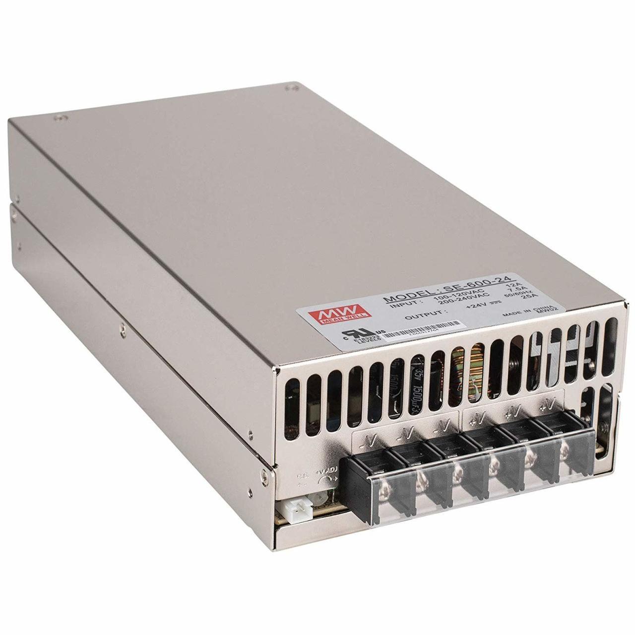 "Блок питания импульсный Mean Well 600W 24V (IP20, 25A) Series ""SE"""