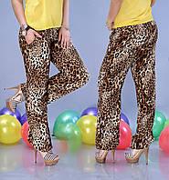 Женские  штаны из штапеля леопардовые