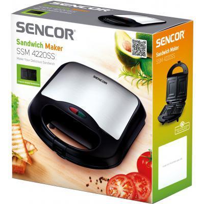 Сэндвичница Sencor SSM4220SS 4