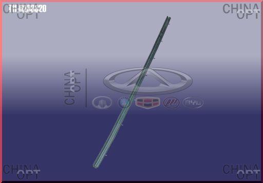 Уплотнитель стекла задней R двери, фетра стекла, внутренняя, Chery Tiggo [1.8, до 2012г.], T11-6203320, Aftermarket