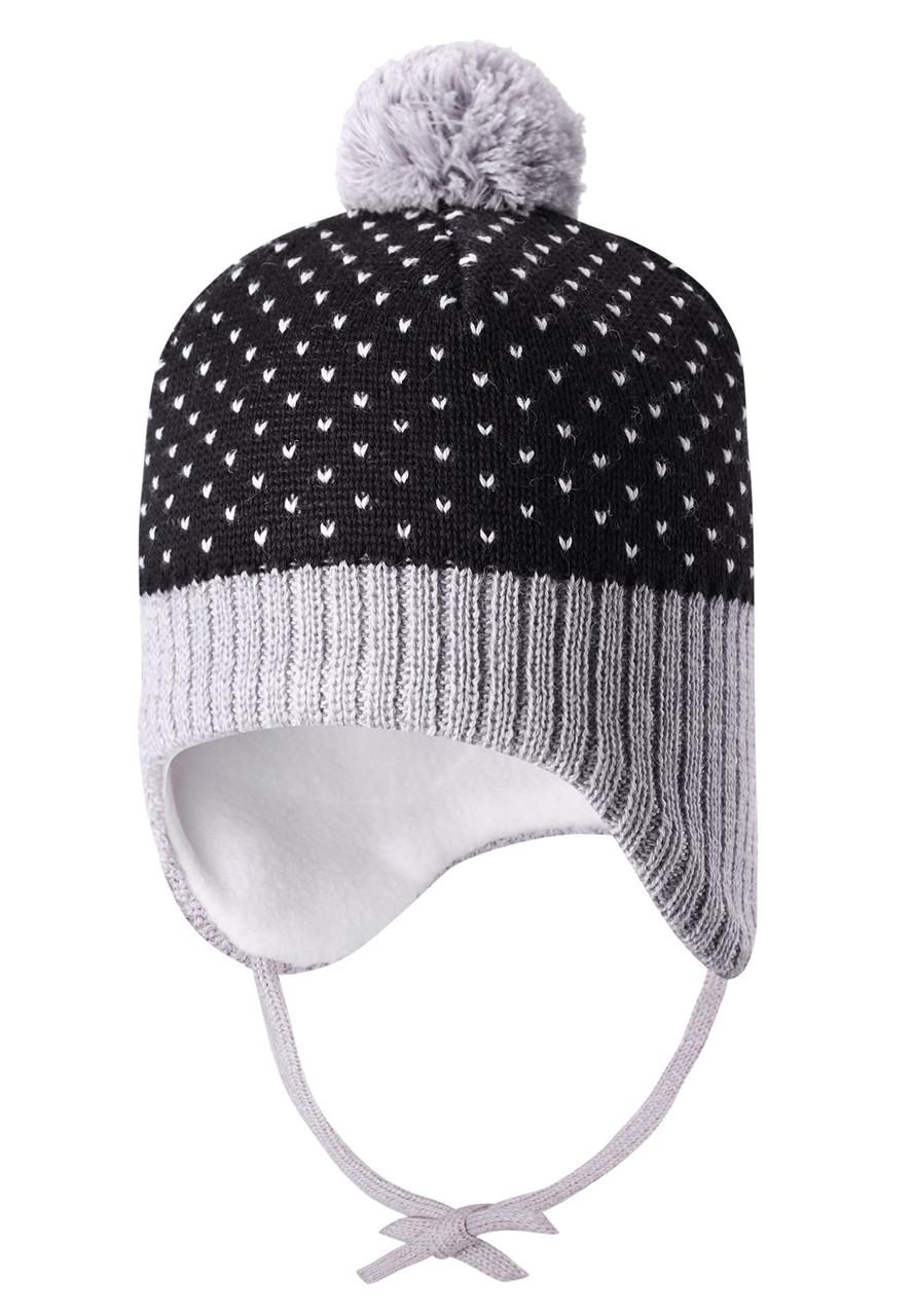 Чёрная шапка Ninne унисекс Lassie 42/44* (718770-9991)
