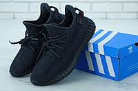 Кроссовки Adidas Yeezy Boost 350 мужские, черные, в стиле Адидас ИзиБуст, текстиль, код KD-11928