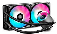 Система водяного охлаждения Deepcool Castle 280 RGB, Intel: LGA2066/2011/1151/1150/1155/LGA1366, AMD: TR4/AM4/AM3+/AM3/AM2+/AM2/FM2+/FM2/FM1,