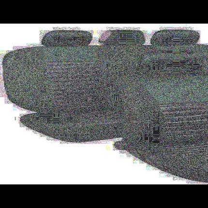Набор чехлов MILEX Tango AG-24016/1 полный комплект 2 передних, 2 задних, 5 подголовников + оплетка руля черные, фото 2