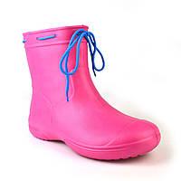 Сапоги демисезонные женские из пены, розовые, без утеплителя. Размеры 36 и 41. JoAm 119250.