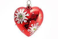 Елочное украшение в форме сердца с декором BonaDi SA0-554