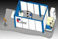 Роботизированная сварочная ячейка Nr. 20142 Многопозиционная установка с периодически перемещающимся столом