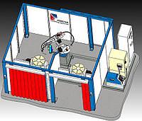 Роботизированная сварочная ячейка Nr. 20145 Двухстанционная поворотно-наклонная установка
