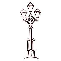 Виниловая наклейка на стену Уличный фонарь