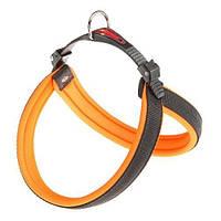 Эргономичная Шлейка Ferplast Agila Fluo 5 Orange Для Собак С Мягкой Подкладкой И Двойной Системой Микрорегулировки, 50X58 См