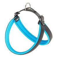 Эргономичная Шлейка Ferplast Agila Fluo 5 Blue Для Собак С Мягкой Подкладкой И Двойной Системой Микрорегулировки, 50X58 См