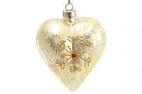 Елочное украшение в форме сердца с декором BonaDi SA0-746