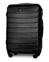 Средний чемодан 65х45х25 см на 4 колесах Fly 1107 Черный
