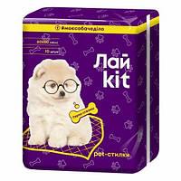 Гигиенические пеленки Лайkit для животных, 10 шт, фиолетовые, 60х60 см