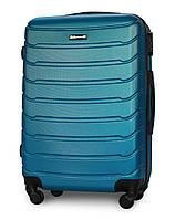 Средний чемодан 65х45х25 см на 4 колесах Fly 1107 Синий