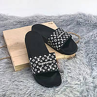 Взуття Supreme Louis Vuitton Шльопки Louis Vuitton Supreme Black 40