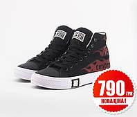 Взуття Converse x Undefeated High Black Red 36