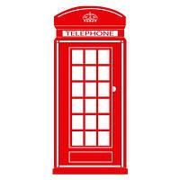 Виниловая наклейка на стену Лондон Будка