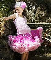 Нарядная детская юбка Pettiskirt. Персидская роза.