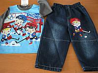 Детский джинсовый костюм хокей для мальчика  1,2 года  Турция
