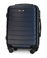 Малый чемодан 55х39х22 Ручная кладь на 4 колесах Fly 1107 Темно-синий