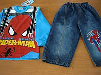 Детский джинсовый  костюм спайдер-мен для мальчика   1,3 года Турция