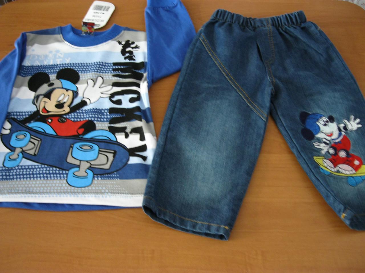 5f5312c4e8c Детский джинсовый комплект Мики Маус для мальчика 1 год Турция - Интернет  магазин Детской Одежды