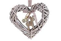 Подвесной декор Сердце с оленем и колокольчиками BonaDi RM2-056