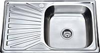 Врезная Мойка для Кухни из матовой Нержавейки-0,8 мм,Размером-780х480 мм