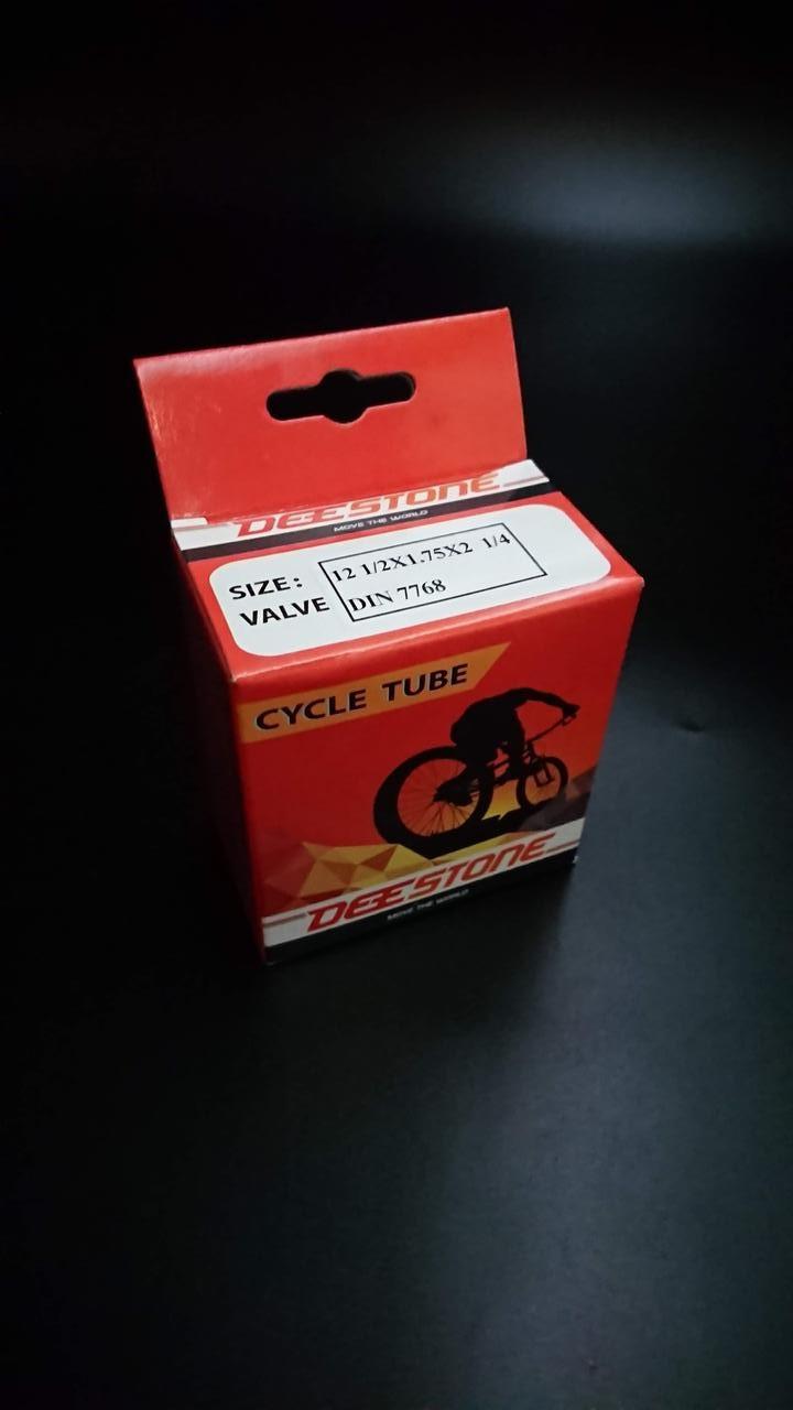 Камера велосипедная 12 1/2x1.75x2 1/4 (47/54-203) DIN-7786 Deestone (Таиланд)