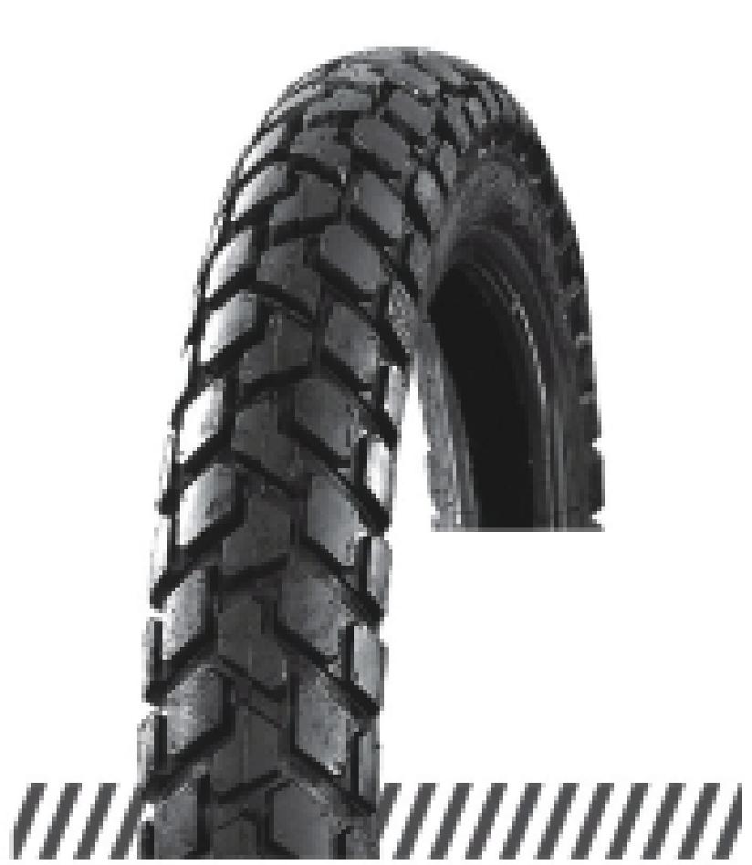 Покрышка хорошего качества для скутеров 6PR (60% каучука) 3.50-10 OCST DX-025