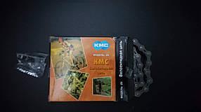 Велосипедная цепь КМС Z33 (Z6),1/2x3/32, 116 звеньев,  коричневая с серым