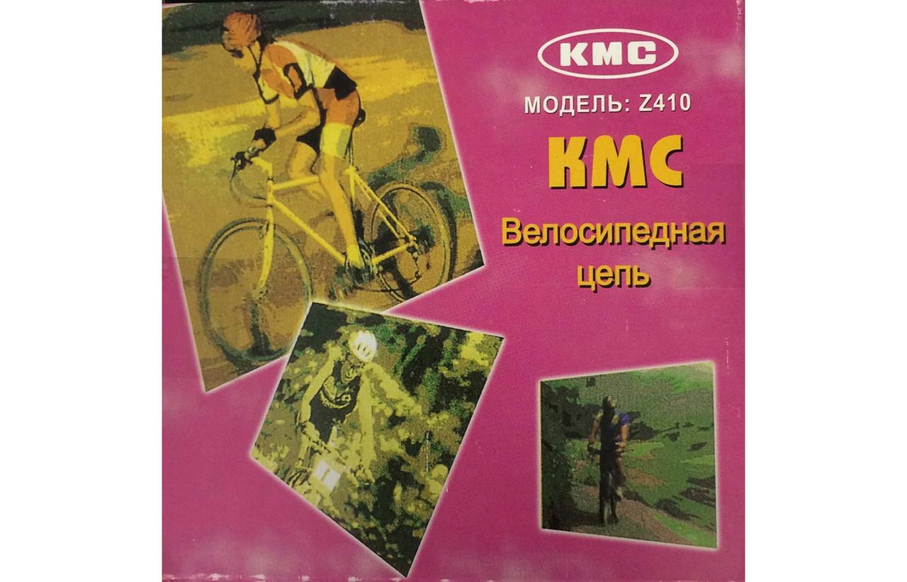 "Велосипедная цепь КМС Z410 (Z1),1/2"" x 1/8"", 112 звеньев,  коричневая"