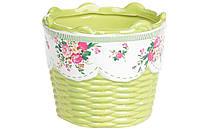 Декоративное кашпо, цвет - салатовый BonaDi RM2-048