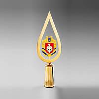Навершие «Капля с гербом Кировоградской области» Au, эмаль