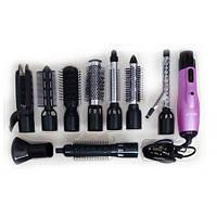 Многофункциональный фен-плойка для волос 9в1 Rozia HC-8111
