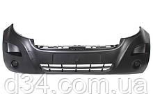 Бампер передний черн Renault Master 3, Opel Movano B 10-14