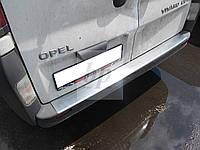 Защитная хром накладка на задний бампер c загибом Renault trafic 2 (рено трафик 2 2001г+)