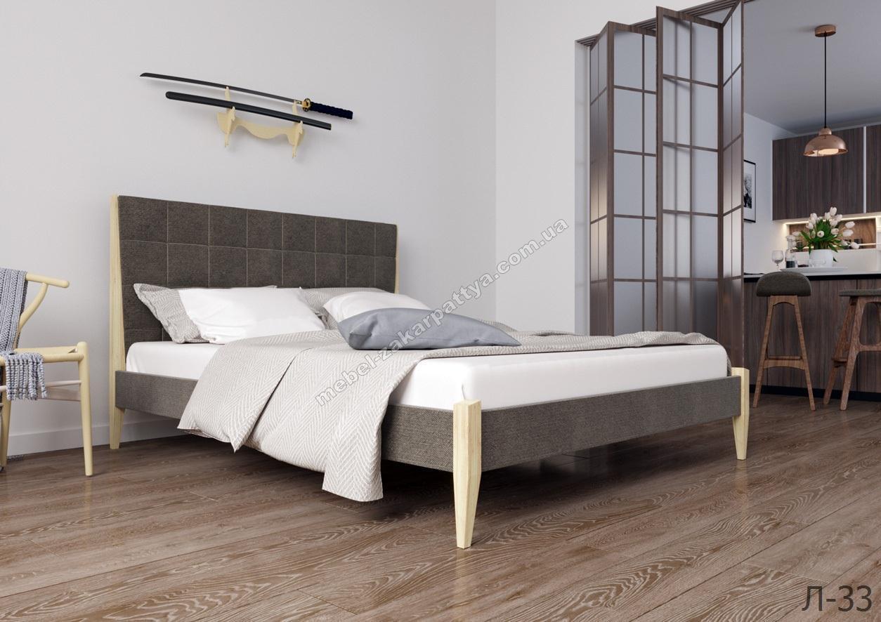 Кровать деревянная Л-33