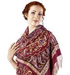 Рассказ о странствиях 1633-56, павлопосадский шарф шелковый крепдешиновый с шелковой бахромой, фото 10