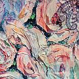 Платок шелковый 10099-1, павлопосадский платок (крепдешин) шелковый с подрубкой, фото 6