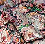 Платок шелковый 10099-1, павлопосадский платок (крепдешин) шелковый с подрубкой, фото 7