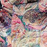 Платок шелковый 10099-1, павлопосадский платок (крепдешин) шелковый с подрубкой, фото 5
