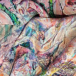 Платок шелковый 10099-1, павлопосадский платок (крепдешин) шелковый с подрубкой, фото 9