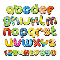 Виниловая наклейка на стену Английский алфавит, фото 1