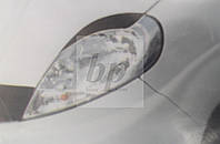 Реснички передних фар (черные) Opel vivaro (опель виваро 2001+)