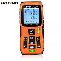 Лазерна Рулетка далекомір «LOMVUM» 50 м, призначена для вимірів відстані, об'єму і площі, периметра, фото 1