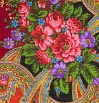 "Павлопосадский шерстяной платок ""Серебро"" размер146х146 см. рис.1243-18, фото 4"