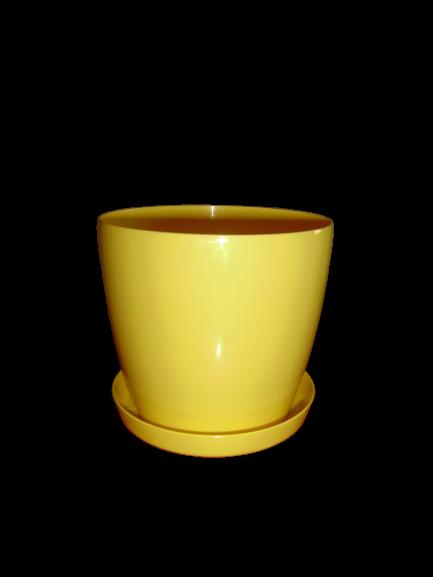 """""""Магнолия""""+подставка  V=2л(d=15,5см,h=13,7см) желтый """"Ламела"""""""